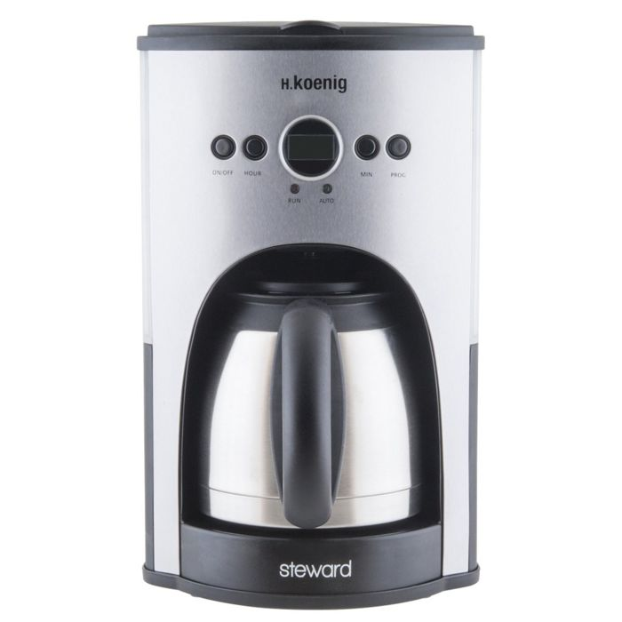 h koenig stw25 programmable coffee maker with thermos 1 5. Black Bedroom Furniture Sets. Home Design Ideas