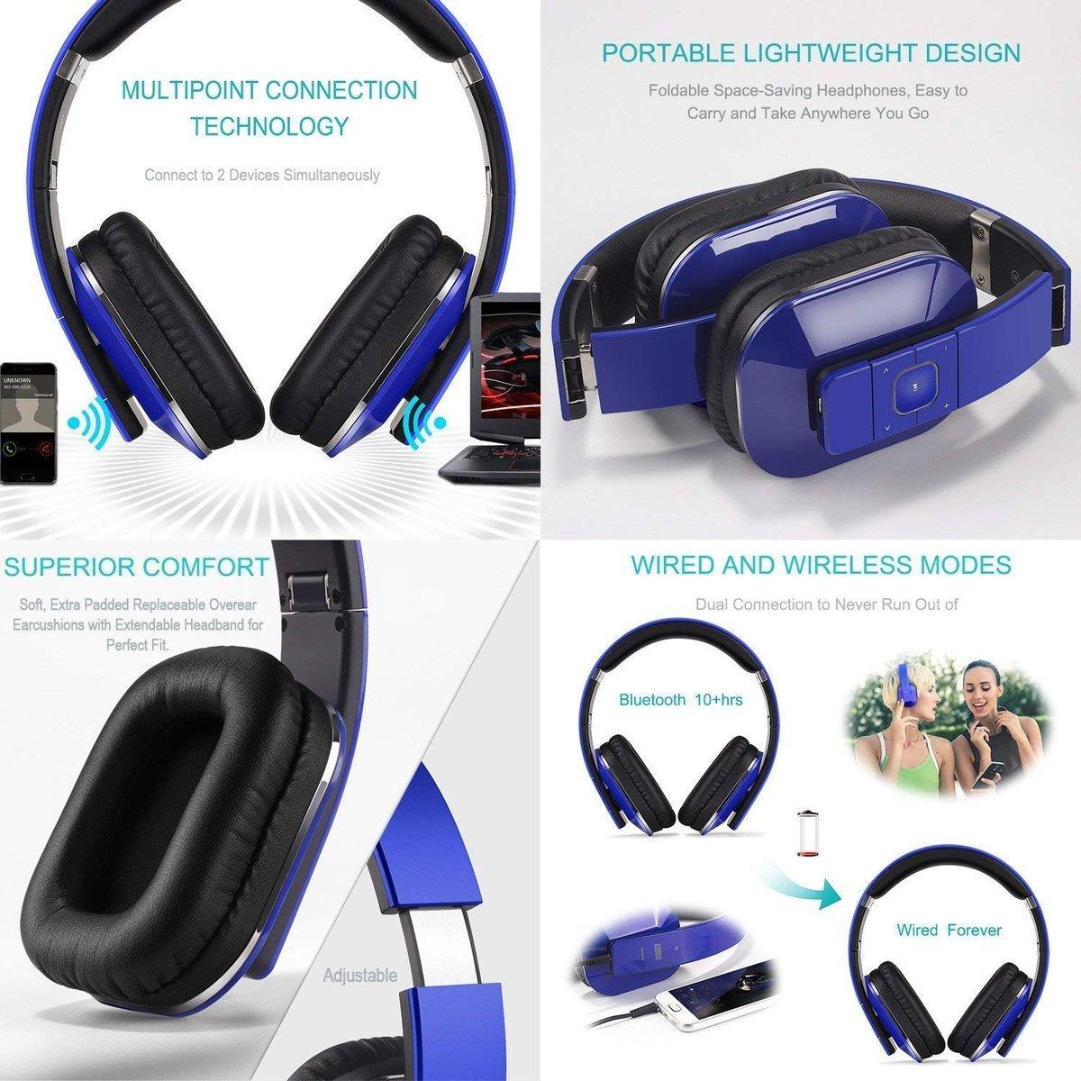 Wyprzedaż! Teraz tylko :: Słuchawki bezprzewodowe AUGUST EP650BL